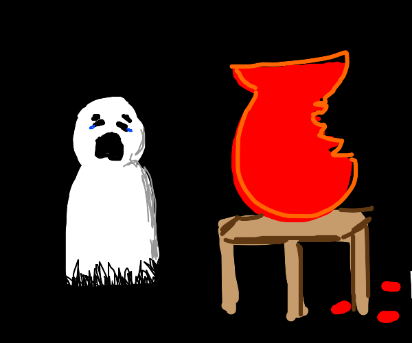 Ghost gets his art project ruined