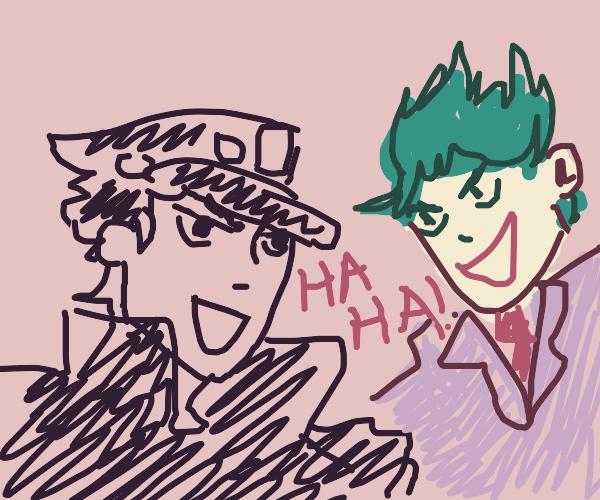 Jotaro being evil with Joker