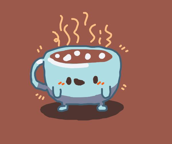chibi blue coffee being kawai