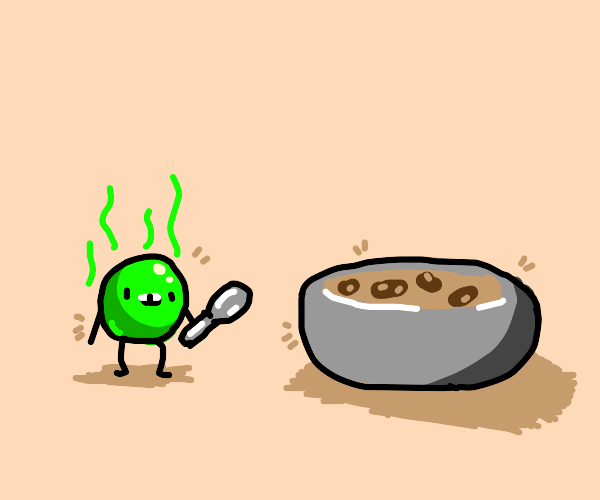 Smelly pea and bean soup.