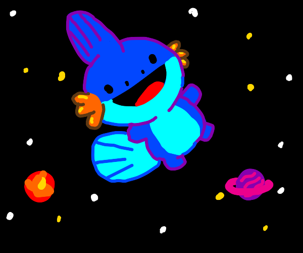 Mudkip in space