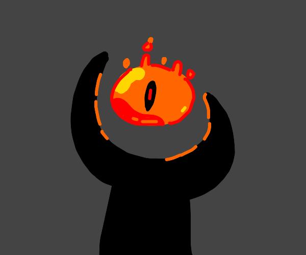 orange eye of sauron