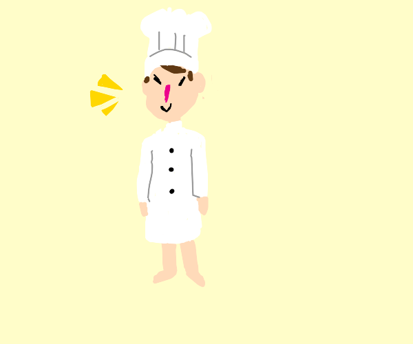 Proud chef