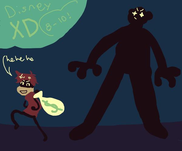 Disney show abt a black giant and a criminal