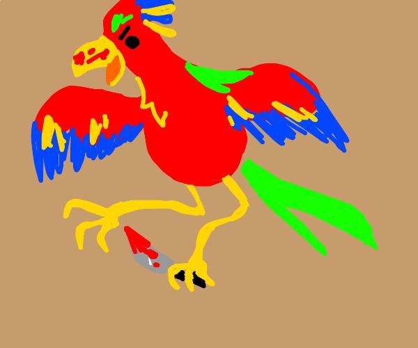 Exotic bird is also a serial killer