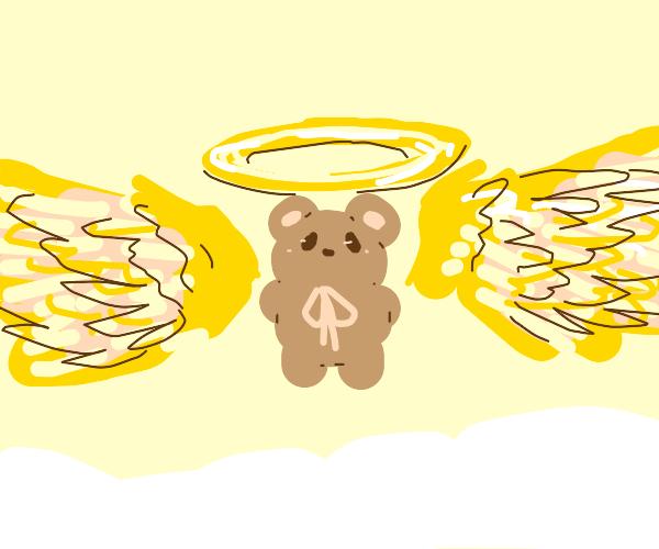 Teddy bear goes to heaven