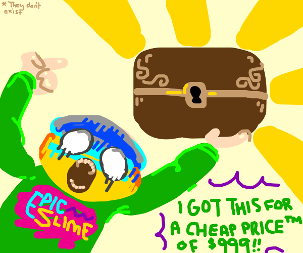 Influencer buying a Chest