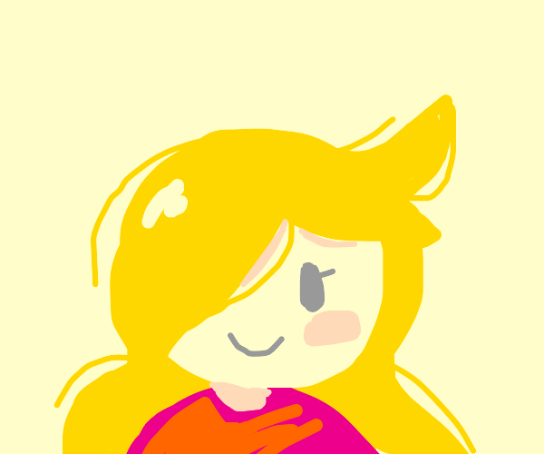 A girl with blonde hair