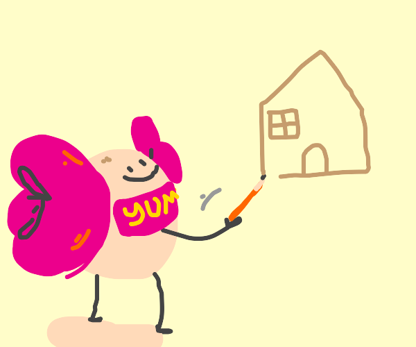 candy draws house