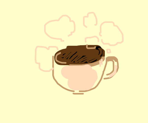 detailed cup of hot coffee