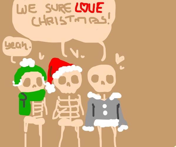 Skeletons love Christmas