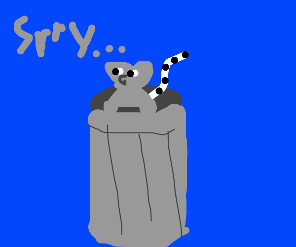 realistic raccoon in a trash can