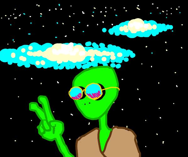 Hippie Alien in Space