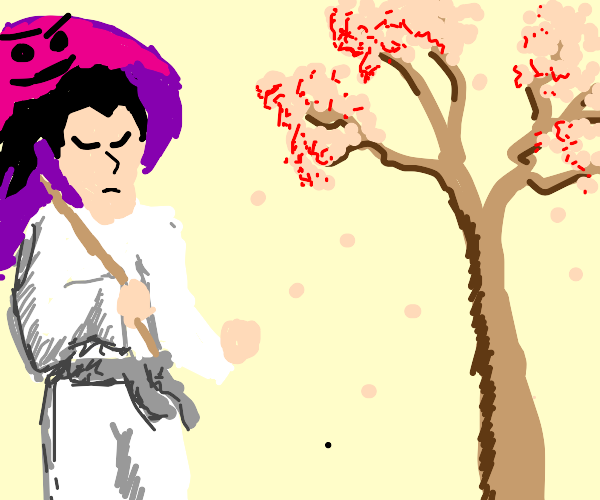 Samurai with a demonic parasol?