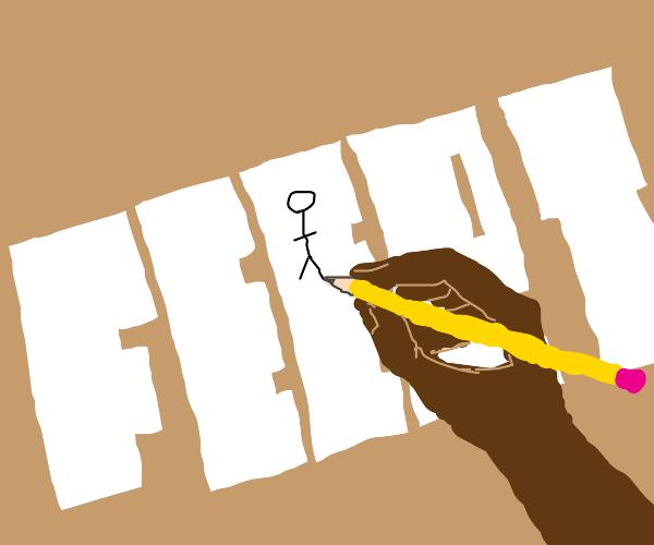 drawing on feert