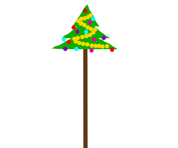 Christmas tree for really tall people