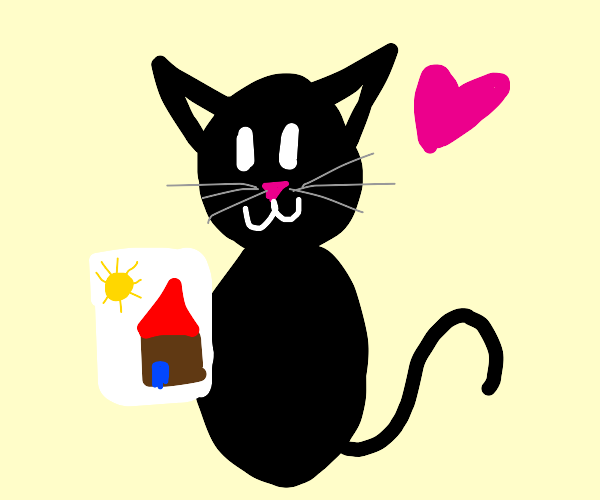 a cat the lOves to draw!!