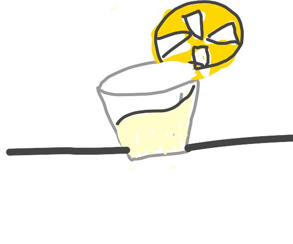lemonade with BIG lemon
