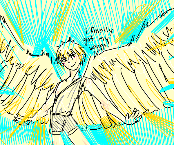 An angel finally gets his wings