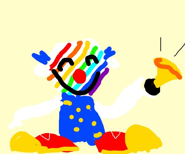Rainbow clown!