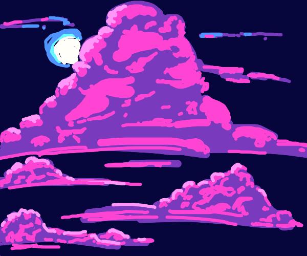 purple cloud