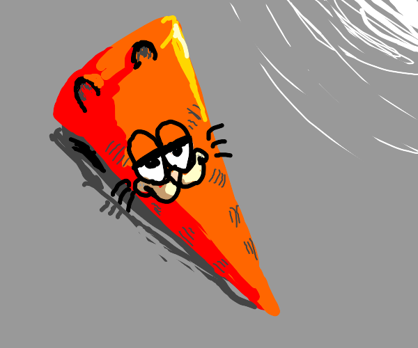 Garfield in the shape of a cone