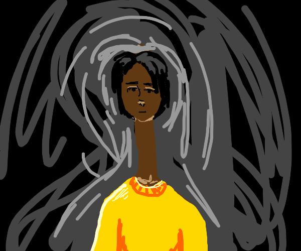 Man has long neck