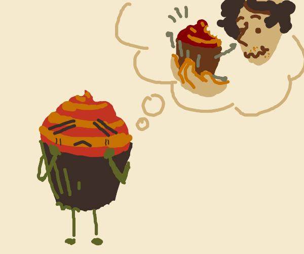 Cupcake fantizises about being eaten