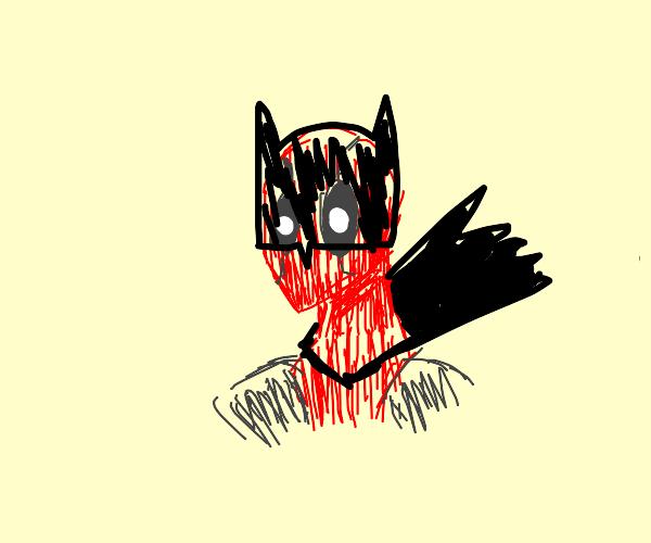 Deadpool batman but its Little red riding etc