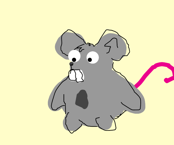 Mouse with huge teeth