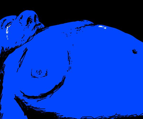 """morbid blue man: """"somebody end me."""""""