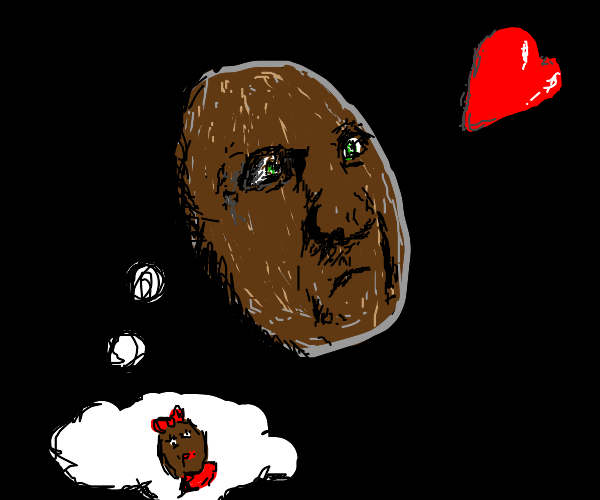 Coconut thinking about his girlfriend