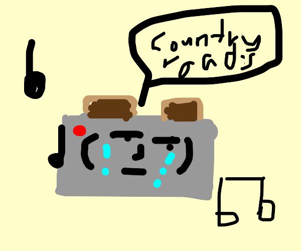Crying toaster singing