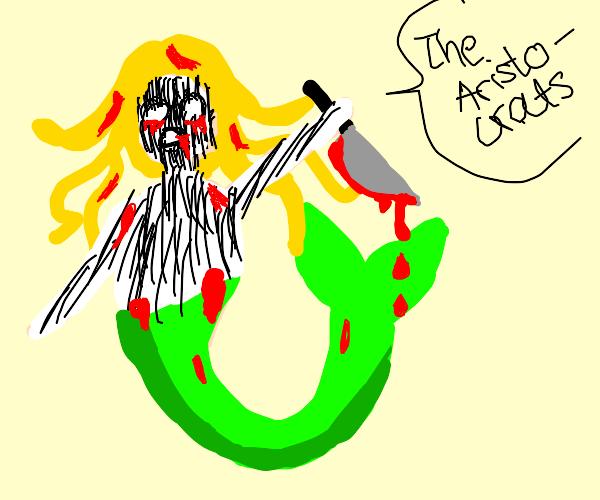 "Creepy mermaid says ""The Aristocrats!"""