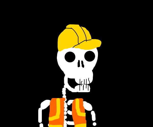 Construction Worker Skeleton