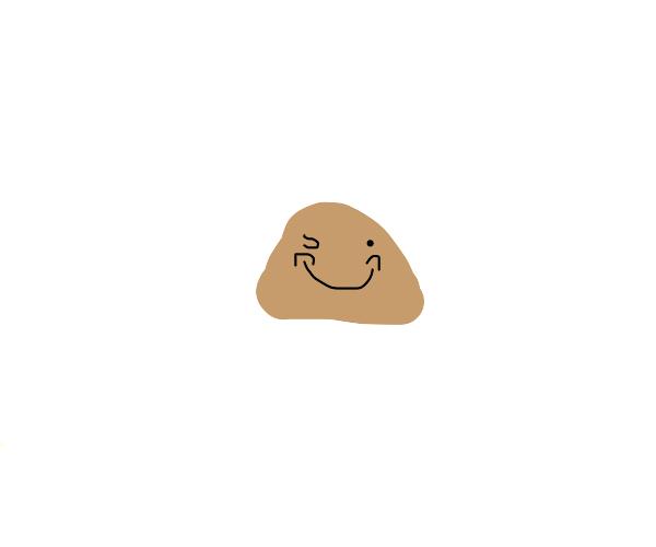 Happy sentient rock