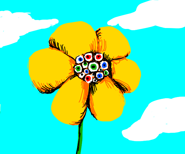 flower with too many eyes