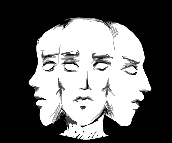 Three-faced man