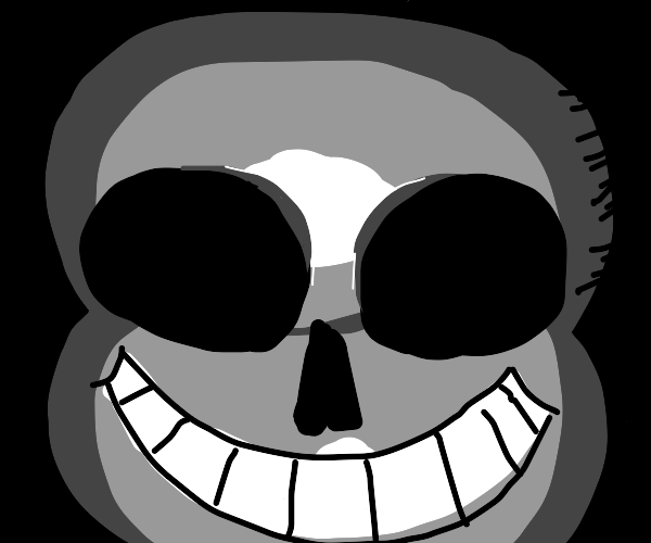 Sans with no eyes, and more teeth
