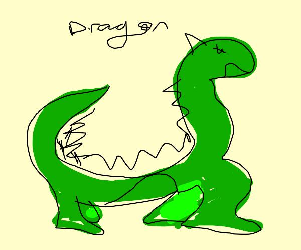 Very long, snake-like dragon.