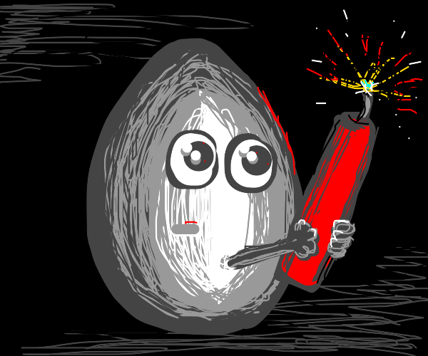 egg with dynamite