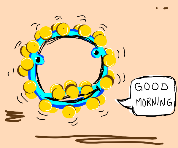 Speaking tambourine wishes you a good morning