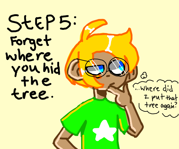 Step 4: hide the tree