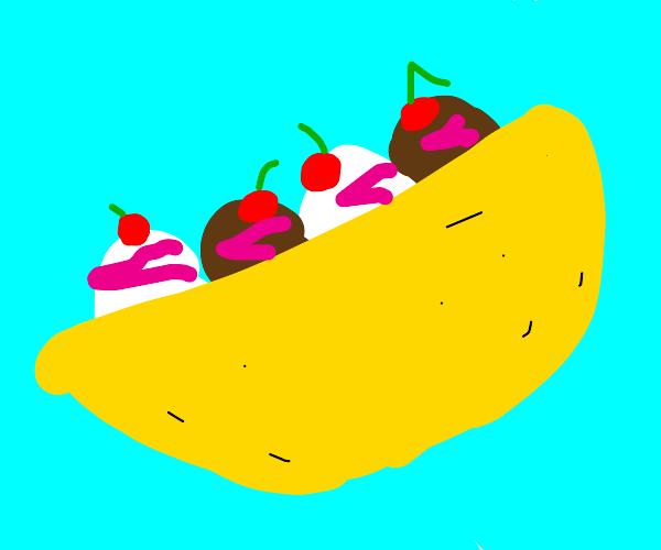 Icecream taco