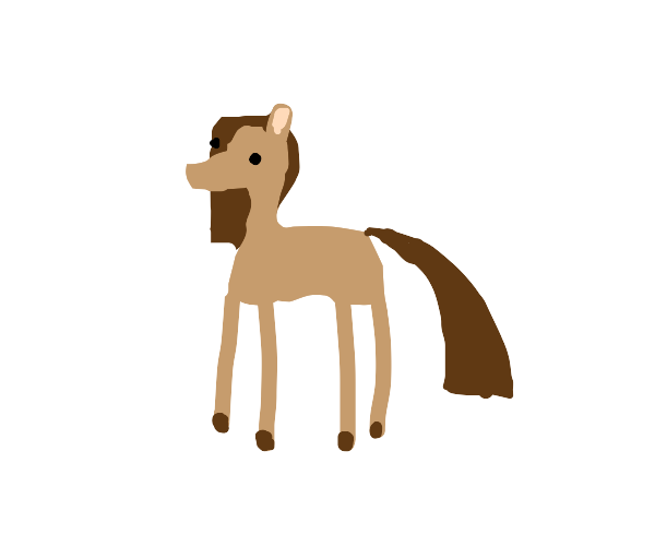 Minimal Brown Horse