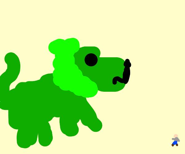 a green lion