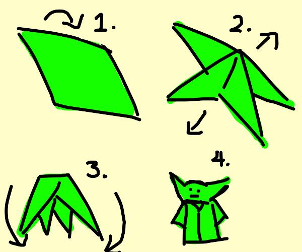 How to fold origami yoda: