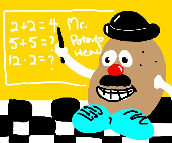 Mr Potato Head teaches math