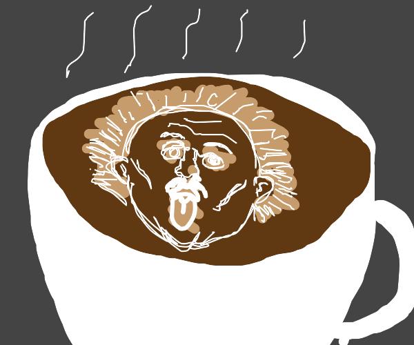 Einstein coffee art