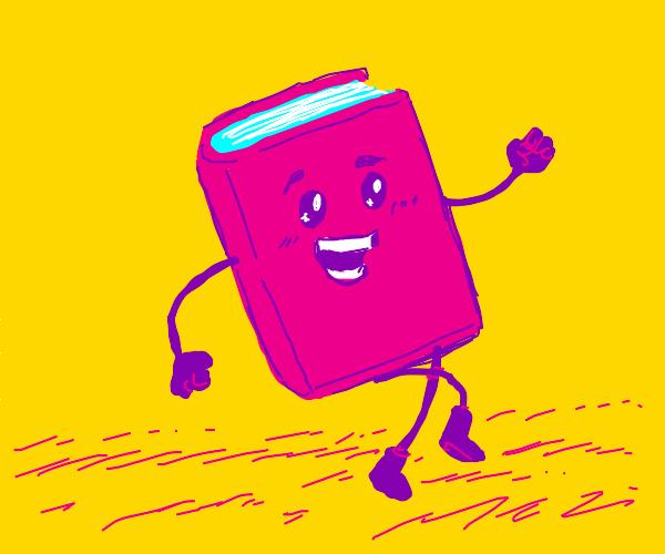 Happy book walking
